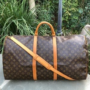 💯Auth LV Monogram Keepall Bandouliere 60 •W/STRAP